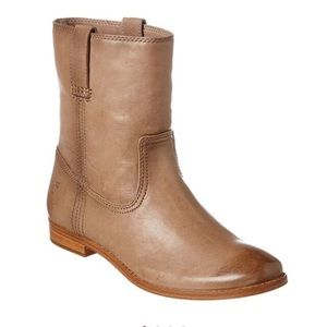 New FRYE Anna Chelsea Pull On Leather Boots 10